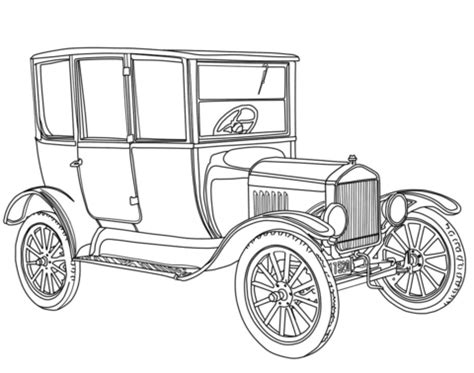 Cover Mobil Medium Sedan Deluxe 2 Lapis 1919 ford model t coloring page free printable coloring