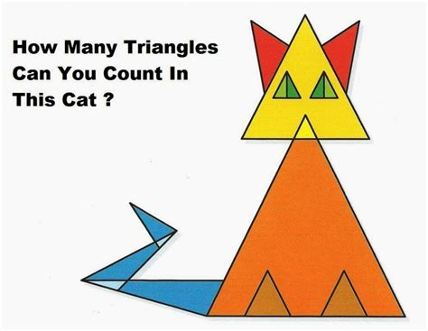 How Many Find How Many Triangles Can You Count In This Cat Whatsapp Puzzles World Quiz