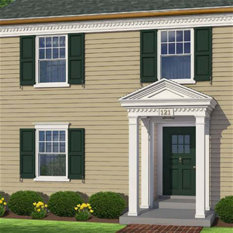 Colonial Windows Designs Photoshop Redo Dressing Up A Flat Facade Colonial Window And Decorating