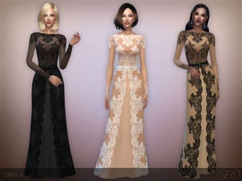 Longdress Cc beo creations lace dress sims 4 downloads