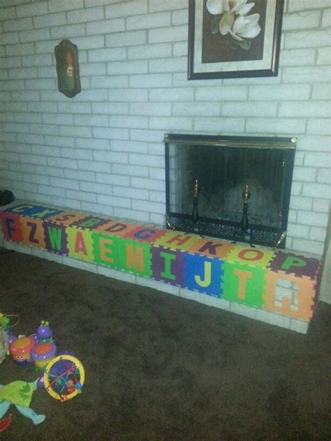 Baby Proof Fireplace Mantel by Baby Proofing Fireplace I Did This For About 20