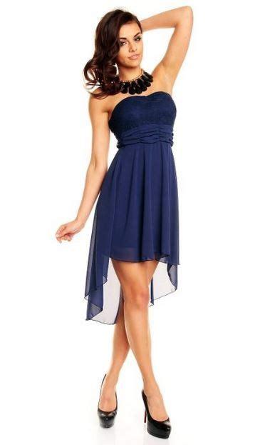 Swing Kleid Vokuhila by Vokuhila Kleid Blau