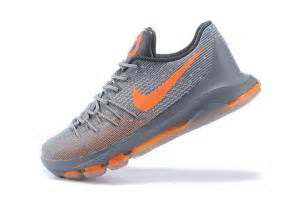 kd shoes mens nike kevin durant kd 8 shoes wolf grey cool grey orange