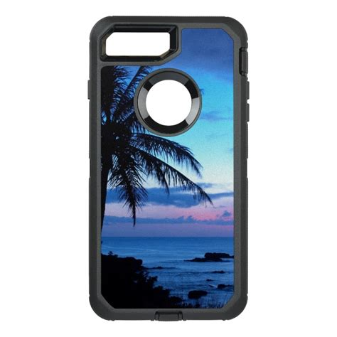 tropical island pretty pink blue sunset photo otterbox