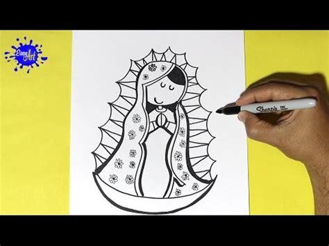 imagenes de la virgen faciles para dibujar como dibujar la virgen de guadalupe how to draw a virgin