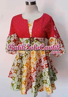 Blouse Lengan Balon Ikat baju kerja batik modern model blouse cherry f40