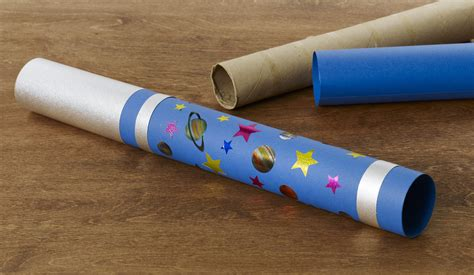How To Make A Telescope With Paper Towel Roll - diy craft telescope highlights
