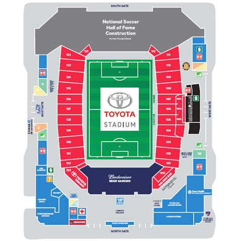 toyota center dallas tx toyota stadium frisco seating chart toyota stadium