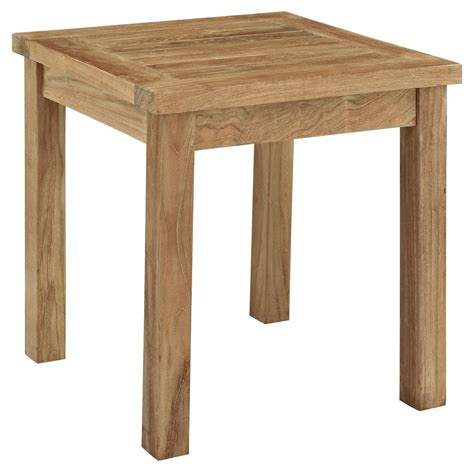 small wood patio table modway marina outdoor patio side table patio accent