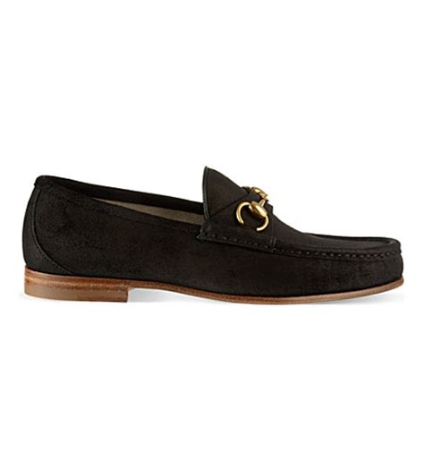 Black Master Ferari Brown High gucci horsebit suede loafer