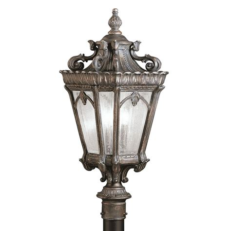 Kichler Post Light With Clear Glass In Londonderry Finish Kichler Post Lights