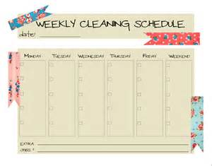 Blank Cleaning Schedule Template by Keepin It Clean O My Family This New S