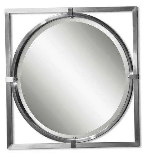 bathroom mirror brushed nickel bathroom wall mirrors brushed nickel home design ideas