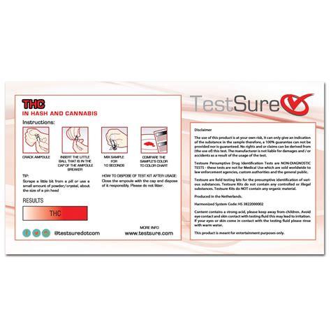 test thc thc test kit reagent field test to identify marijuana