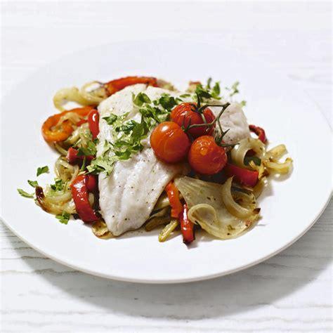 m s mediterranean vegetables mediterranean cod and roast vegetable tray bake cook