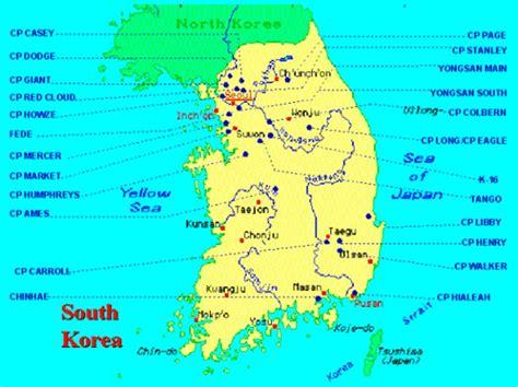 us air bases in korea map korea