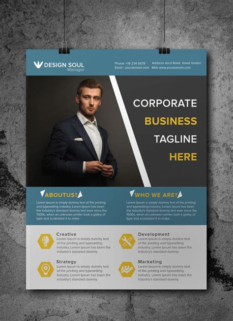 Business Flyer Template Free free corporate business flyer psd template misc