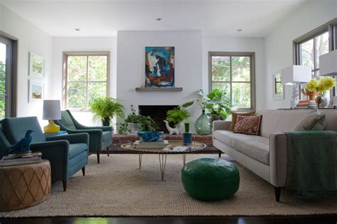 peacock blue living room peacock blue chairs eclectic living room eric olsen