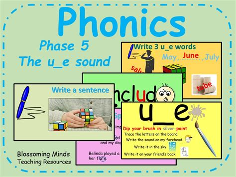 phonics phase 5 split digraph the u e sound by