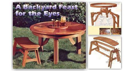 round picnic bench plans round picnic table plans woodarchivist
