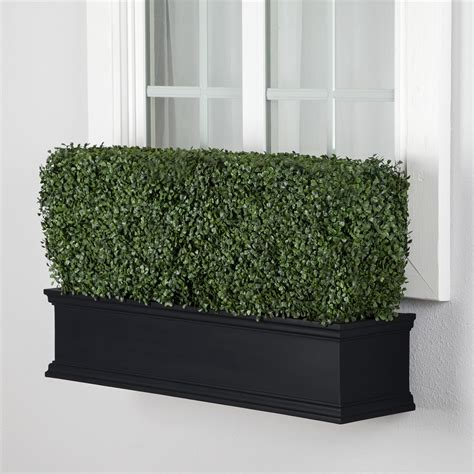 artificial window boxes outdoor artificial boxwood hedges in flower boxes hooks