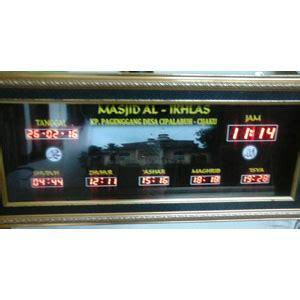 Jam Digital Jadwal Sholat Jeda Iqomah galeri portofolio jam digital masjid jadwal sholat