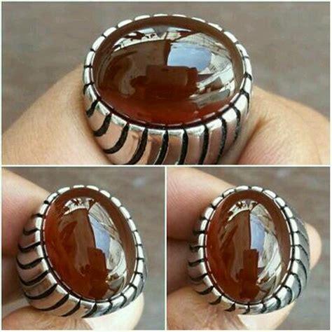 Batu Cincin Wulung Hitam batu cincin yaman wulung coklat tua original