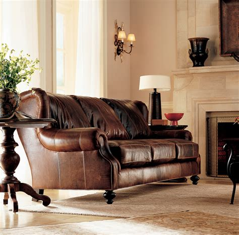 Living Rooms With Leather Sofas Beautiful Room With Brown Leather Sofas Great Home Design