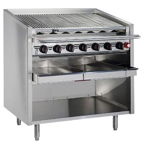 Commercial Kitchen Broiler by Magikitch N Fm 636 Rmb Gas Radiant Char Broiler 36