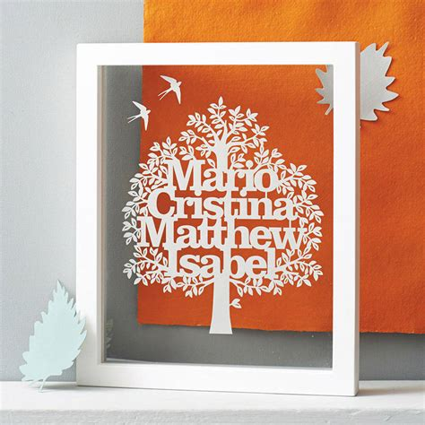 How To Make A Family Tree On Paper For - personalised family tree cut papercut by kyleigh s