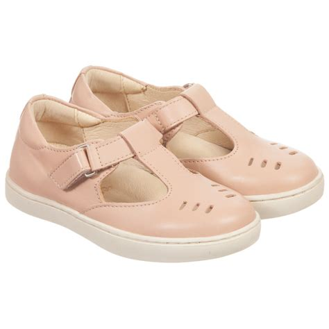 soles pink leather rudy t bar shoes