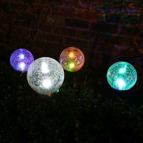 solar globe light bright garden globe solar light colour changing stainless