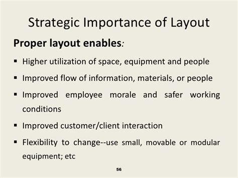 layout strategy importance process selection