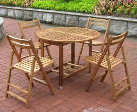 Patio Furniture Table Set Outdoor Wood Furniture