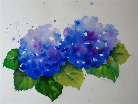 nel s everyday painting lavender hydrangea sold nel s everyday painting hydrangea watercolors sold