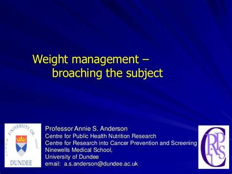 weight management topics weight management broaching the topic