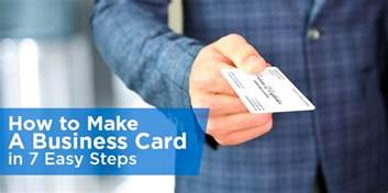 easiest business card to get how to make a business card in 7 easy steps