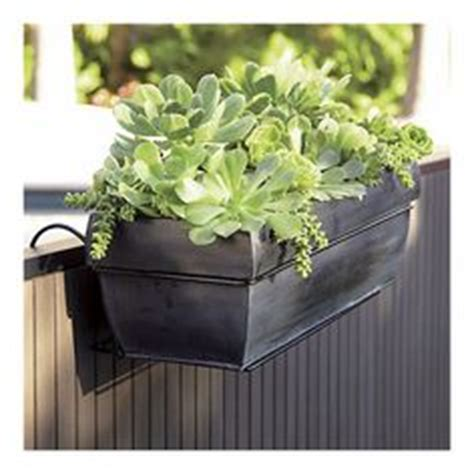 Hanging Rail Planters by 1000 Images About Deck Rail Planters On