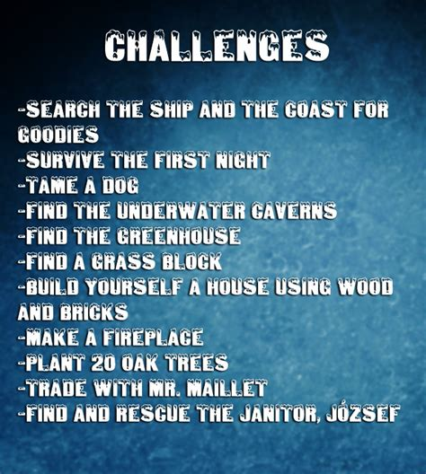 challenges to do on minecraft arctic