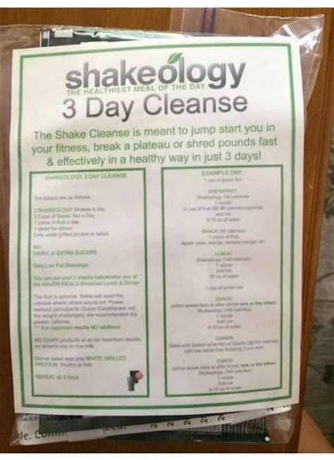 Shakeology Detox Symptoms by Shakeology 3 Day Cleanse Ready Now