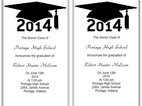 graduation invitation templates free word use iclickprint templates for graduation invitations
