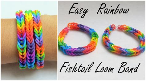youtube tutorial loom bands easy rainbow fishtail loom band tutorial youtube