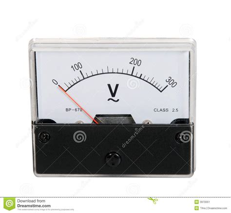 Voltmeter Analog analog voltmeter stock image image of industrial