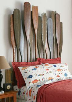 canoe paddle headboard decorating ideas on pinterest rustic tv stands rustic