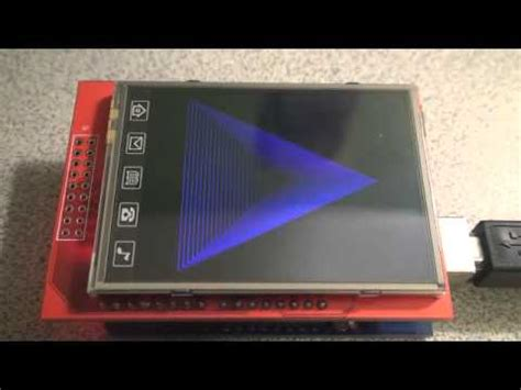 color 2 6 quot tft lcd shield with touch screen and arduino