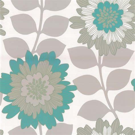 designer selection oriental bold floral wallpaper metallic