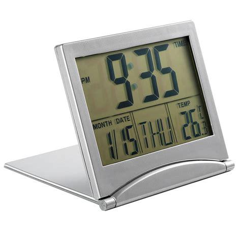 Promo Color Change Digital Desk Clock With Pen Holder Jk 286 lcd digital large screen desk table clocks foldable