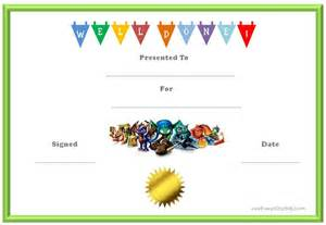 kid certificate templates free printable skylanders behavior charts and certificates