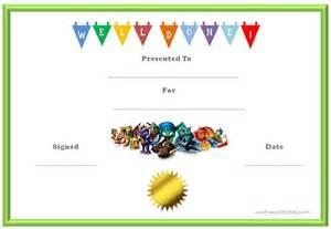 Reward Certificate Templates by Skylanders Behavior Charts And Certificates