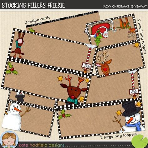 free stocking fillers christmas bag toppers stocking
